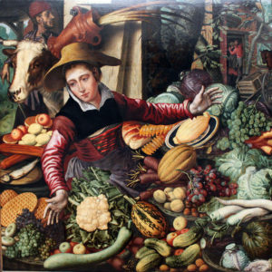 Market Woman at a Vegetable Stand by Pieter Aertsen